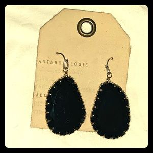 Anthropologie black stone earrings